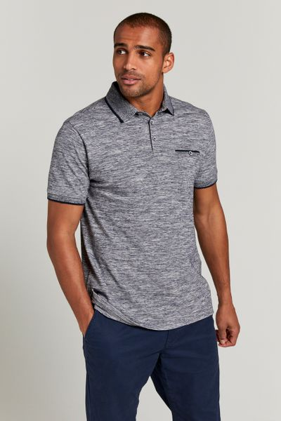 Blue Marl Polo Shirt