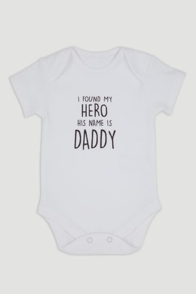 Hero Daddy Slogan Bodysuit