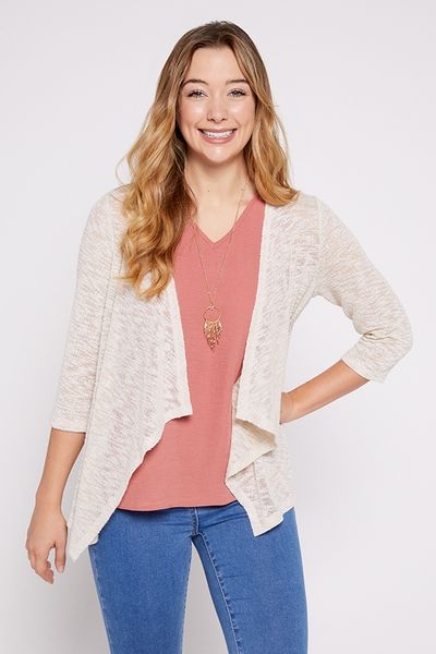 Cream Cardigan & Vest with Necklace