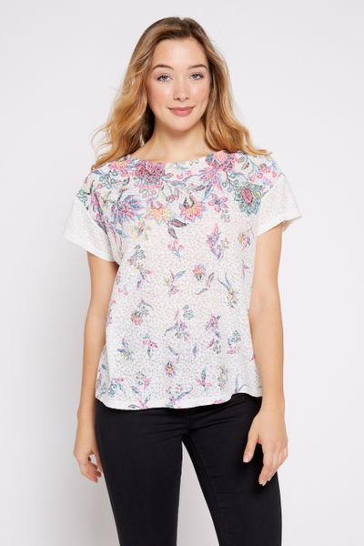 Light Floral Print T-shirt