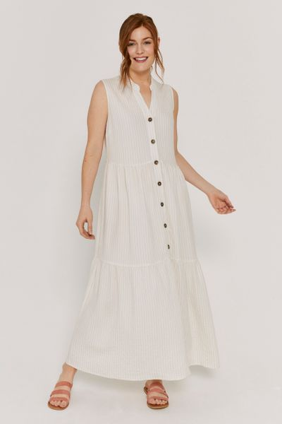 Seersucker Cream Stripe Dress