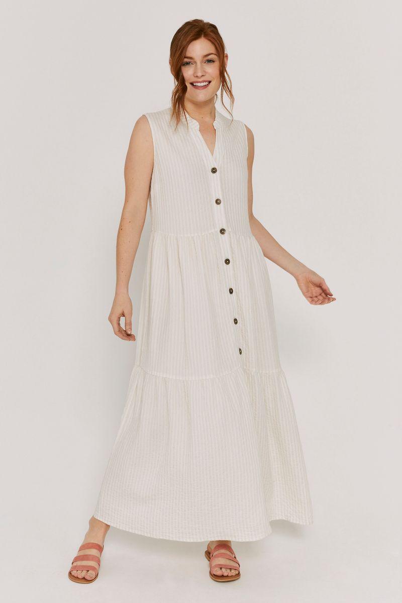 Seersucker Cream Stripe Dress