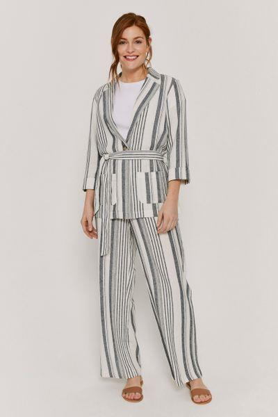 Linen Blue Stripe Blazer