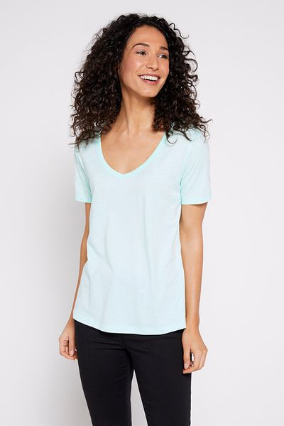 Short Sleeve Spearmint Blue T-shirt