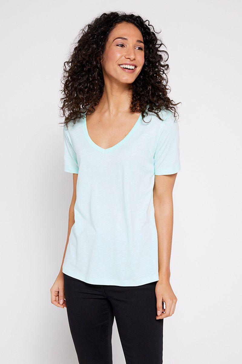 Short Sleeve Spearmint Blue T-shirt
