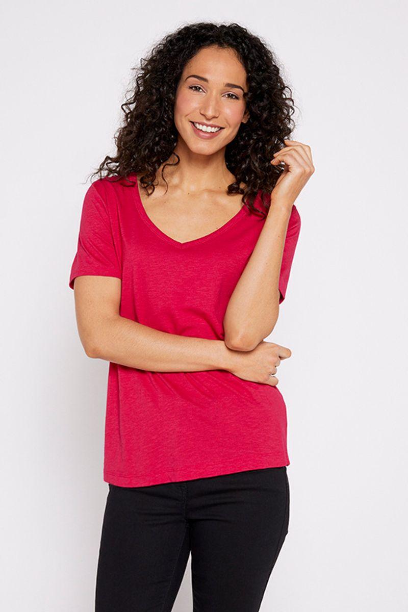 Cerise Pink Short Sleeve T-shirt