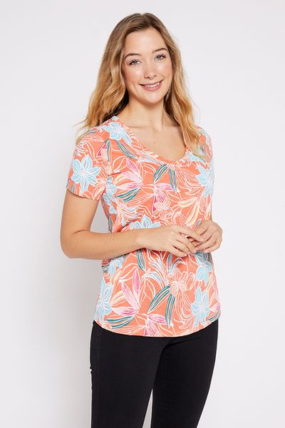 Tropical Floral Short Sleeve T-shirt