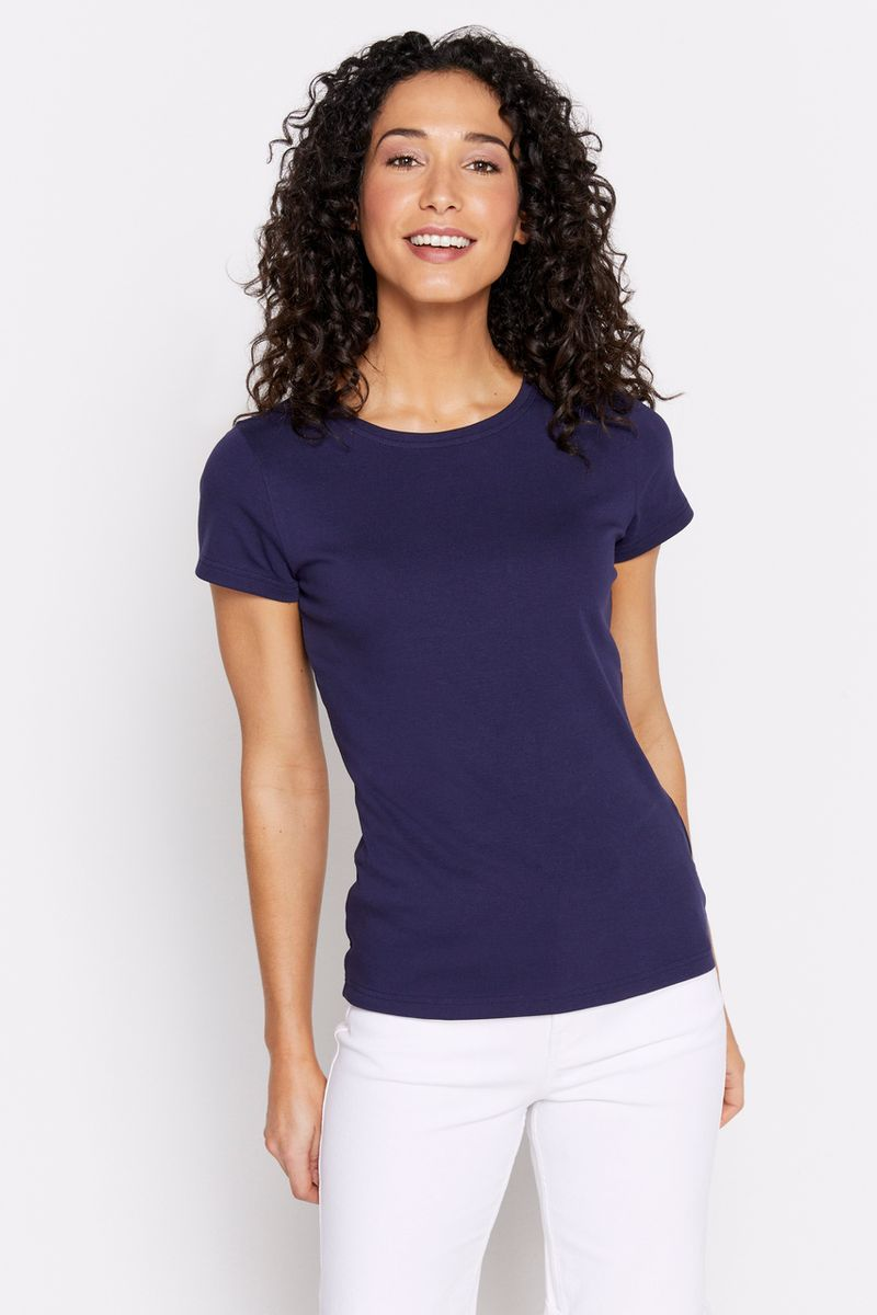 Navy Short Sleeve Fitted T-shirt