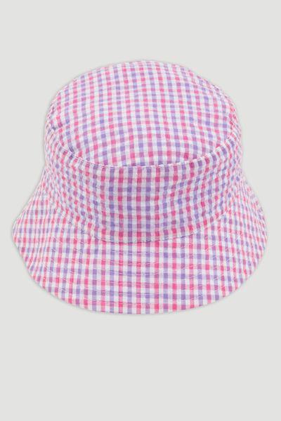 Pink Gingham Reversible Bucket Hat