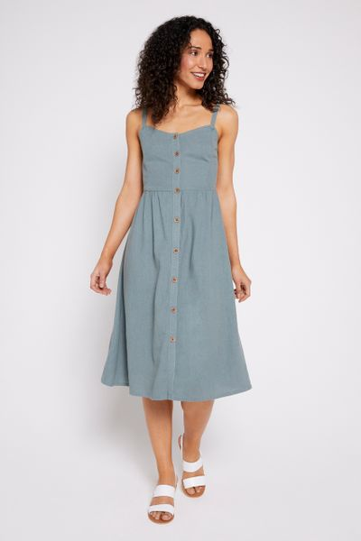 Duckegg Button Sundress