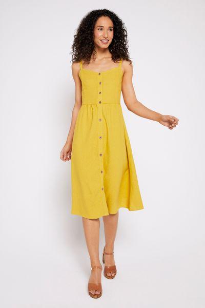 Olive Button Sundress