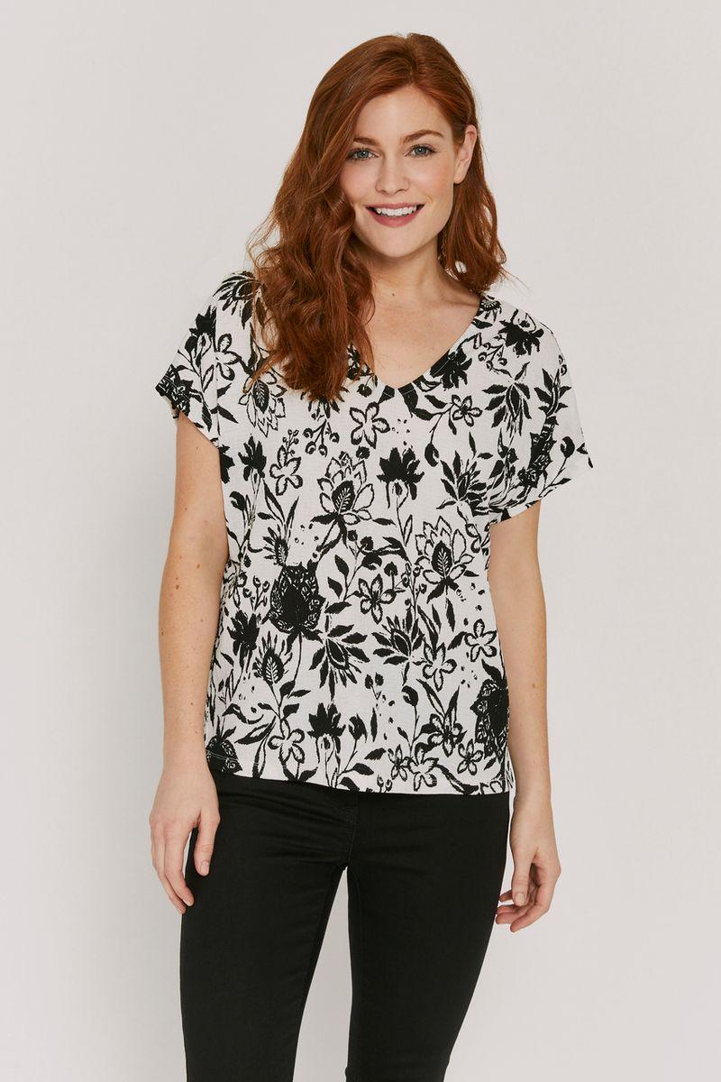 Monochrome Floral T-shirt