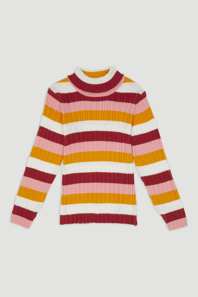 Mustard Stripe Skinny Rib Top 1-6yrs