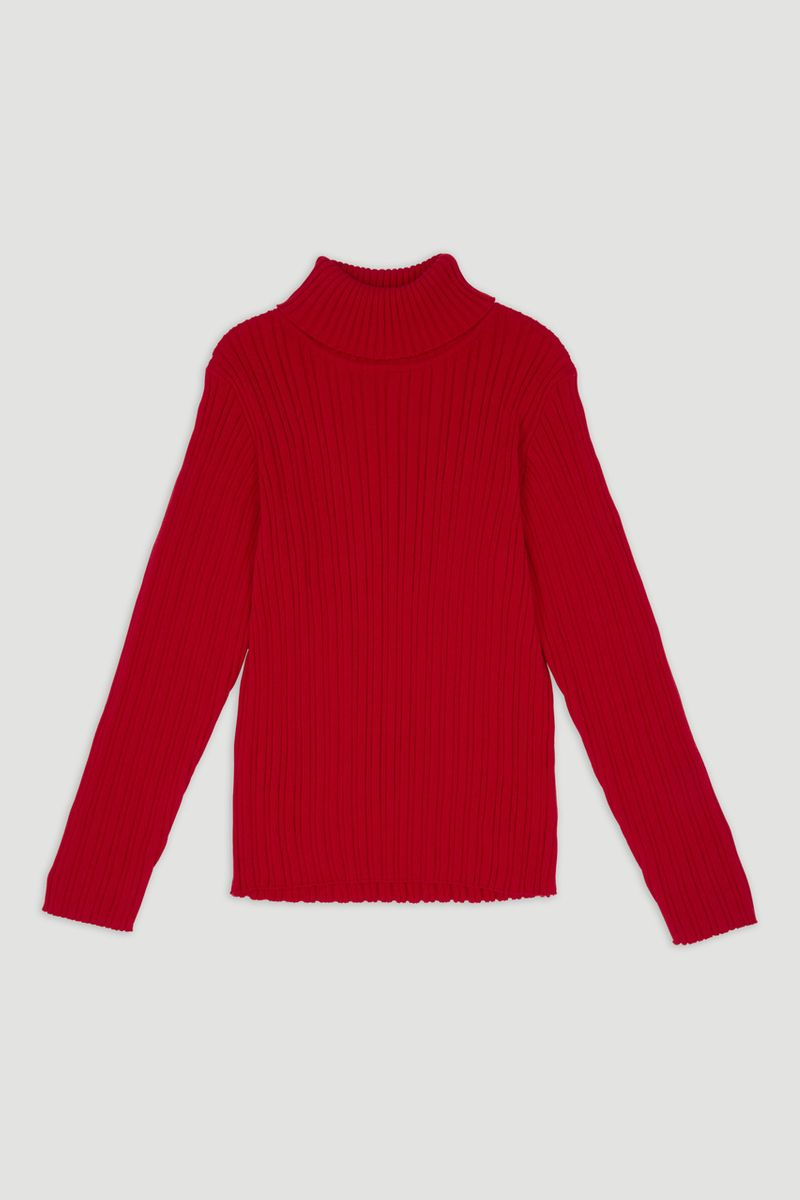 Red Skinny Rib top 1-6yrs