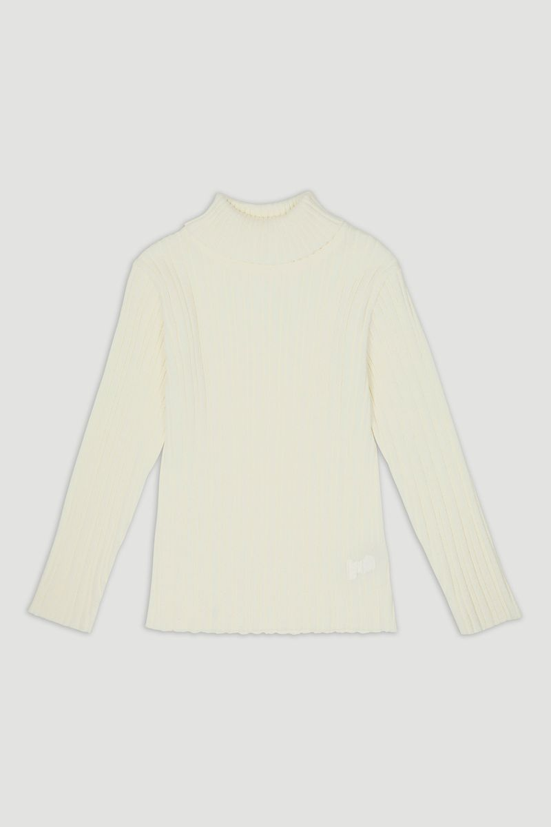 Cream Skinny Rib Top 1-6yrs