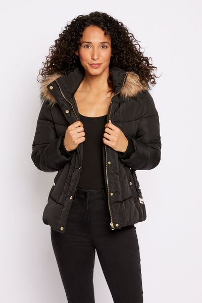 Short Padded Black Coat