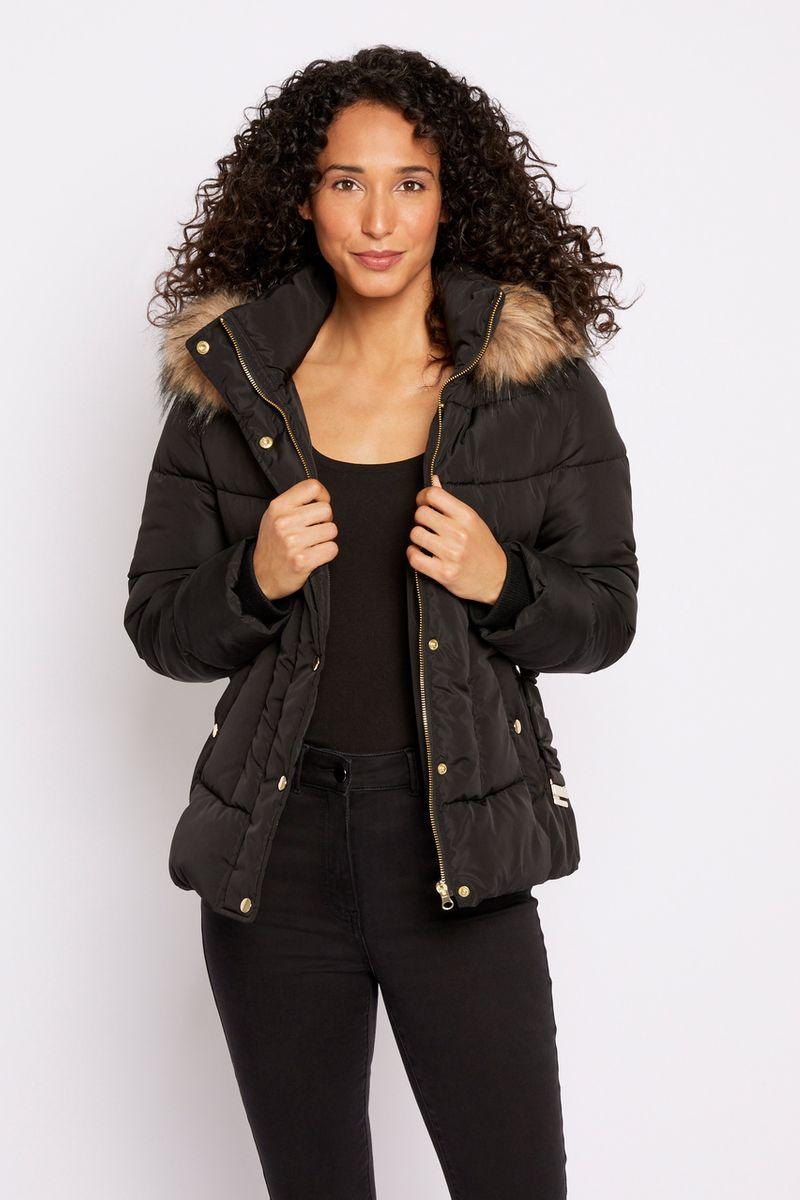 Short Padded Black Coat