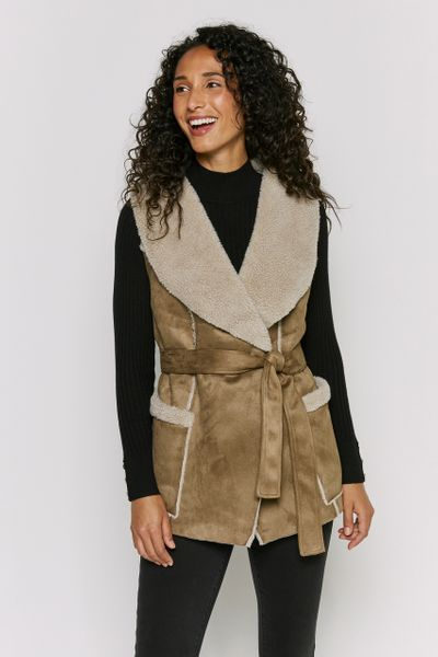 Shearling Belted Gilet