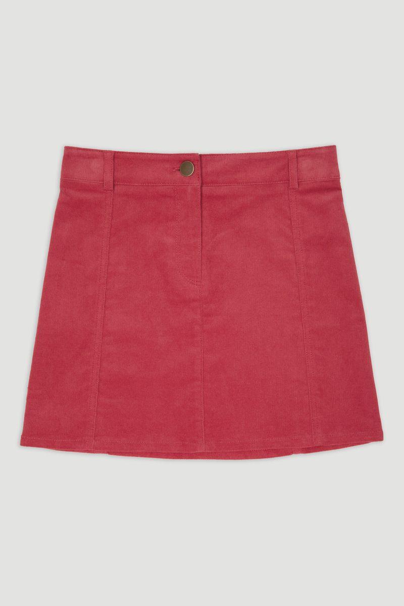 Dark Pink Cord Skirt