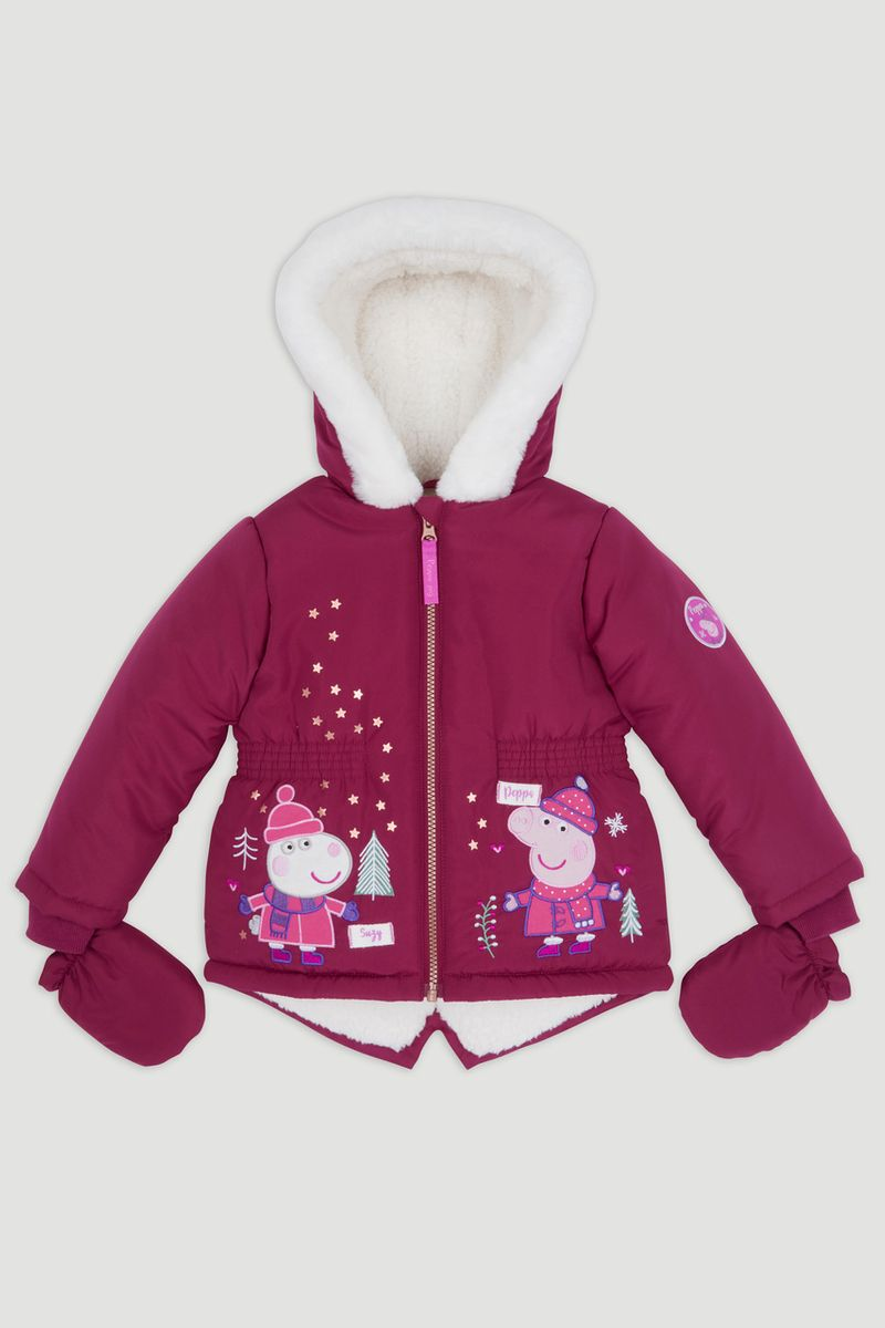 Peppa Pig Burgundy Padded Coat