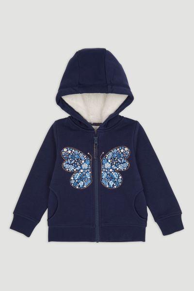 Navy Butterfly Hoodie