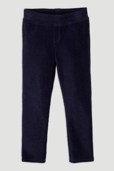 Navy Velour Leggings