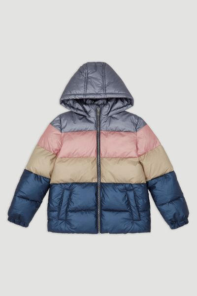 Metallic Colour Block Padded Jacket