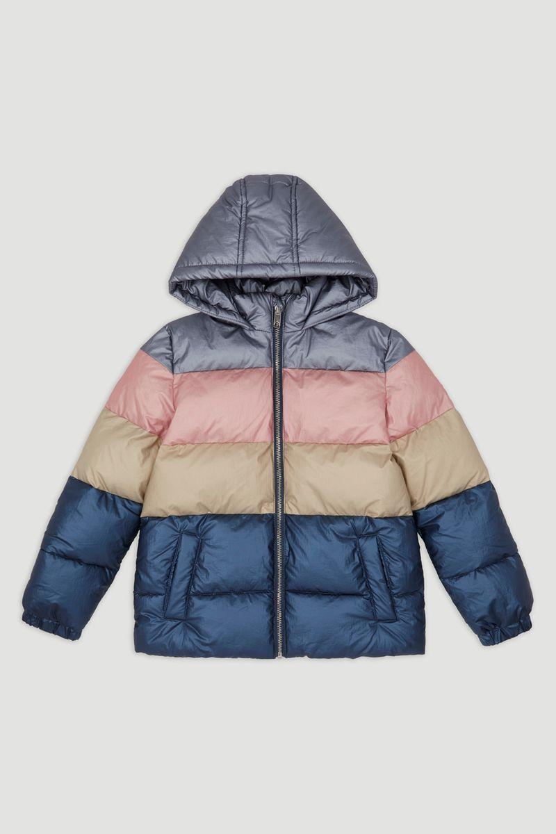Metallic Colour Block Padded Jacket