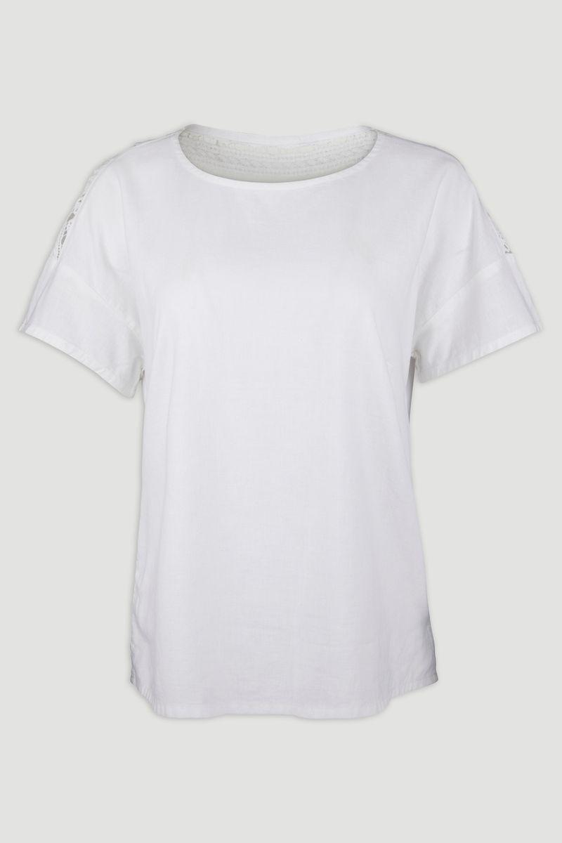 Linen Rich White Lace Top