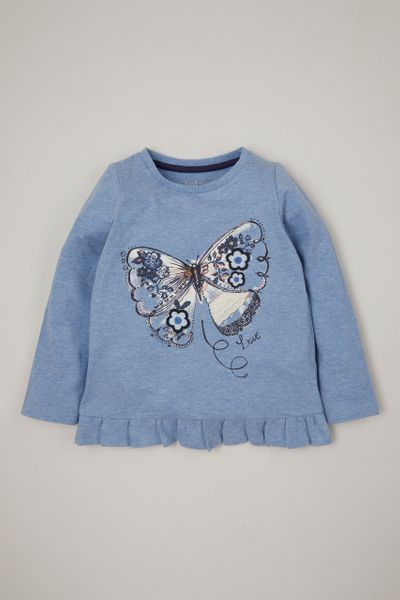 Blue Marl Butterfly T-shirt