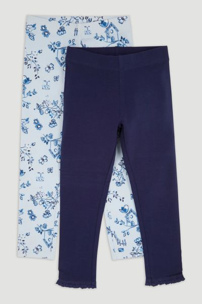 2 Pack Blue Bird leggings