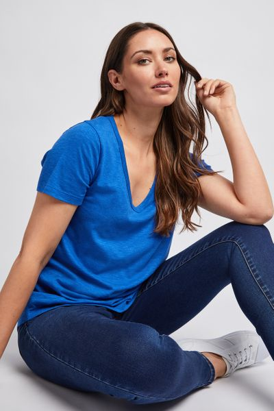 Basic Cobalt Loose Fit T-shirt