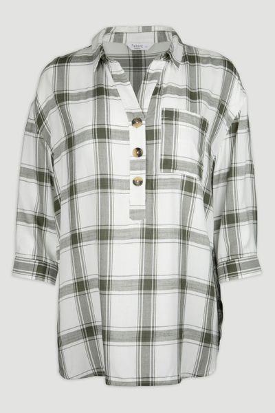 Overhead Khaki Check Shirt