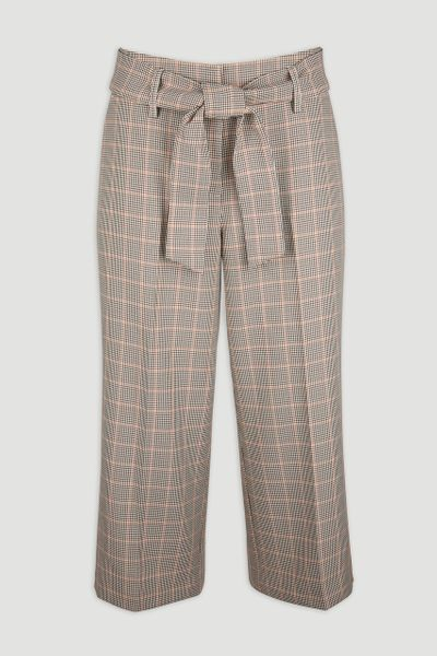 Check Cropped Trousers
