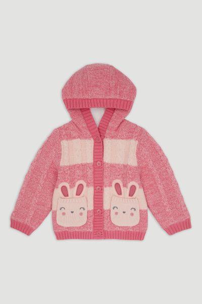 Pink Borg Bunny Cardigan