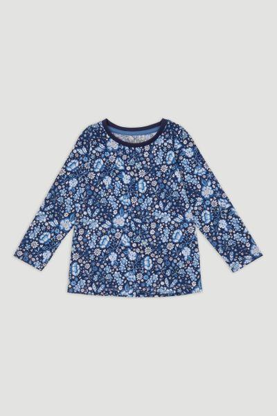 Blue Flower Print T-Shirt