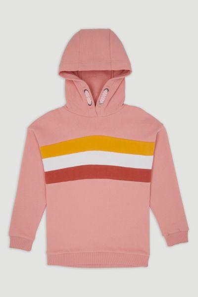 Pink Colourblock Hoodie