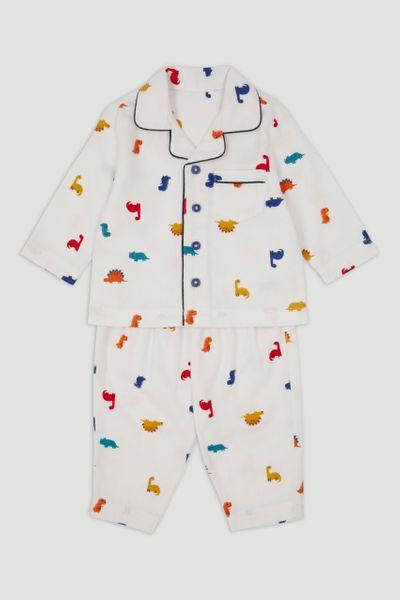 Cream Dinosaur Woven Pyjamas