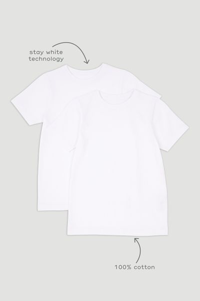 2 Pack White T-shirts