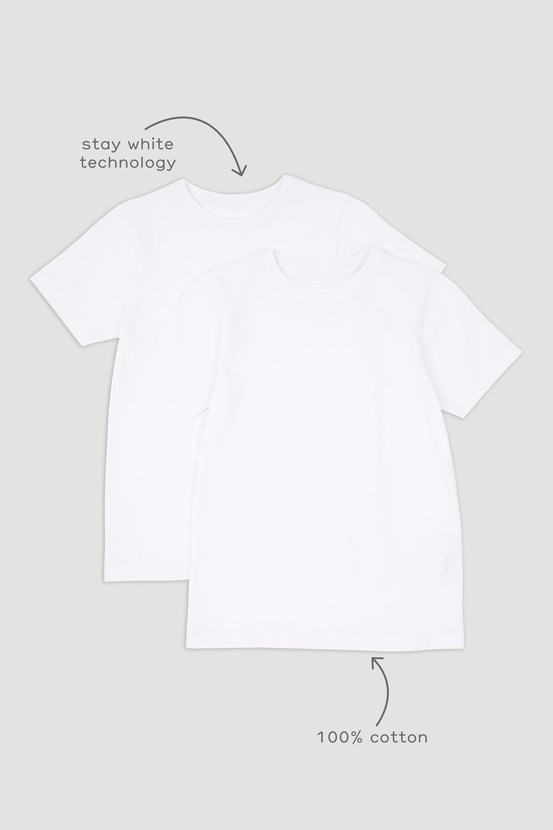 2 Pack White T-shirts