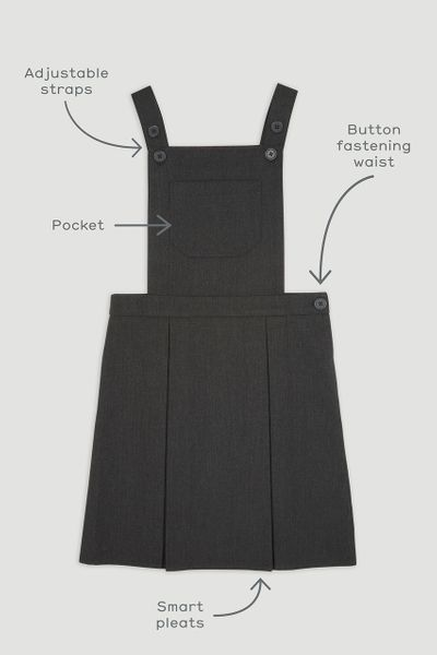 Traditional Charcoal Pinafore