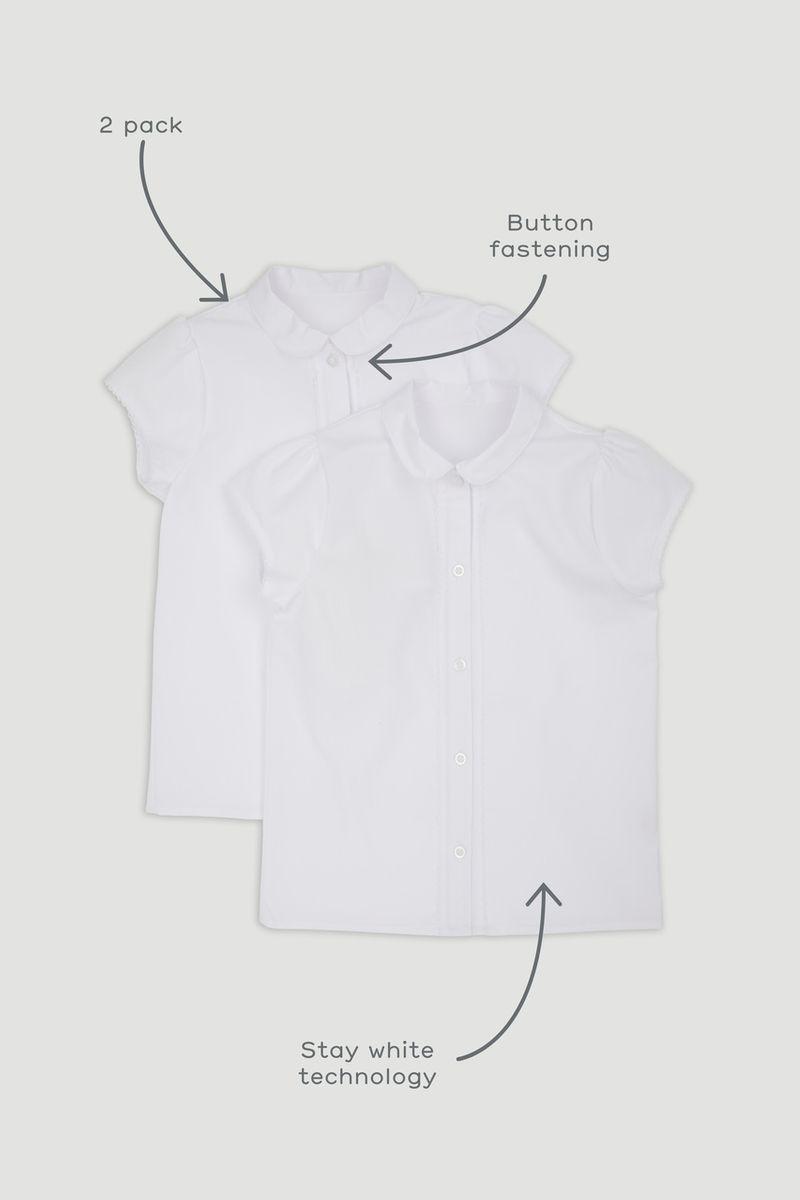 2 Pack Picot Trim Shirts