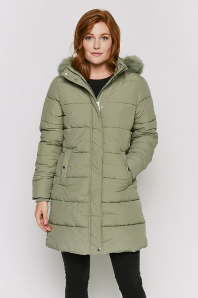 Padded Longline Sage Coat