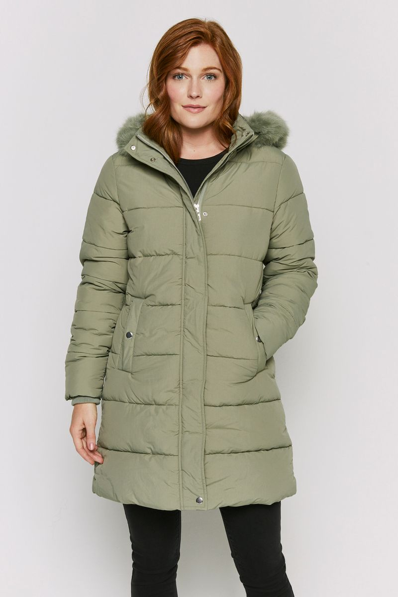 Padded Longline Sage Coat