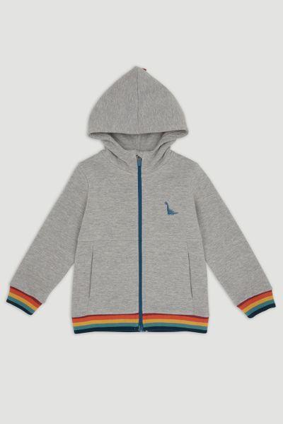 Rainbow Trim Hoodie