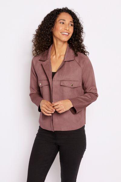 Pink Suedette Jacket