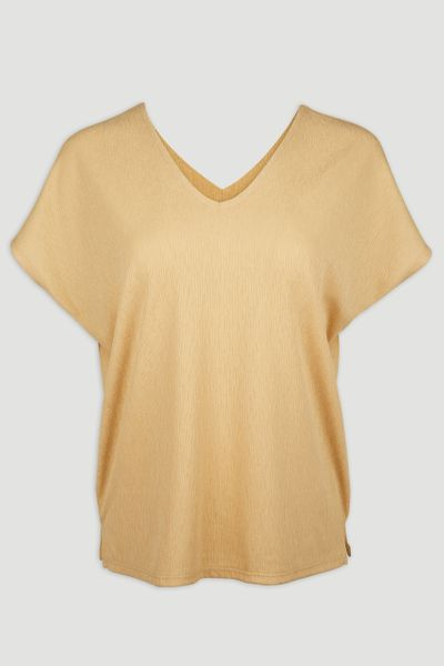 V-neck Yellow Top