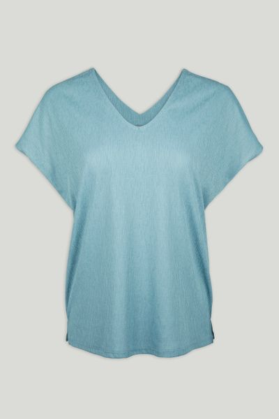 V-neck Blue Top