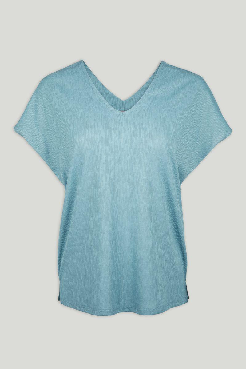 V-neck Blue Top
