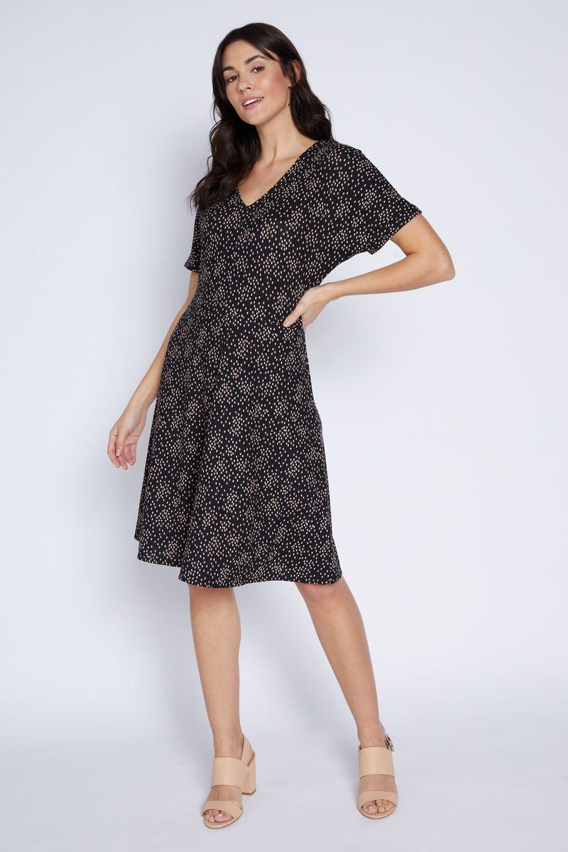 Spot Print Tea Dress